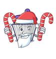 santa with candy blueberry cupcake mascot cartoon vector image vector image