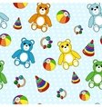 Seamless pattern with toys vector | Price: 1 Credit (USD $1)