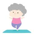 senior woman do yoga vector image vector image