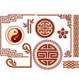 set chinese oriental design elements vector image vector image