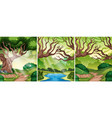 set of forest scene vector image vector image