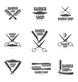 Set of vintage barber shop logos labels badges vector image vector image