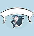shark in suit with banner vector image