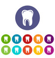 single tooth icon simple style vector image vector image