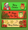 Sketch Christmas banner vector image
