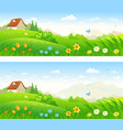 spring bloom banners vector image