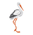 stork icon cartoon style vector image