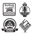 sushi collection vector image