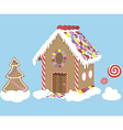 Sweet Christmas house vector image vector image