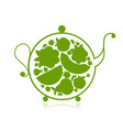 teapot sketch with fruit and berries tea for your vector image vector image