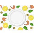 template for your design empty plate on white vector image vector image
