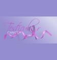 testicular cancer awareness calligraphy poster vector image