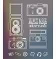 Thin line Hipster style elements vector image