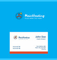turbine logo design with business card template vector image vector image