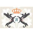 vintage heraldry background vector image vector image