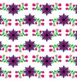 violet and pink flowers natural pattern design vector image