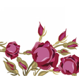 Vintage Watercolor Roses Flowers Card vector image