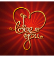 Glamorous Gold I Love You vector image