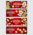 abstract christmas sale vector image vector image