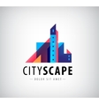 abstract colorful city building vector image vector image