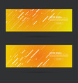 abstract gold header vector image vector image