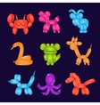 Animal Shaped Bright Balloons vector image vector image