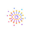 artificial intelligence line icon all-seeing eye vector image