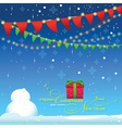 Back drop Celebrate winter season blue background vector image
