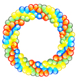Balloon Wreath vector image vector image