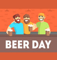 beer day banner template friends having fun and vector image