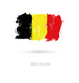 belgium colorful brush strokes painted national vector image vector image