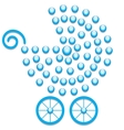 Blue pram symbol vector image vector image