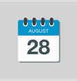 calendar icon day 28 august date days year