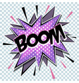 cartoon comic graphic design for explosion vector image vector image