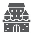 castle glyph icon architecture and fort vector image vector image