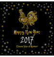 Chinese calendar symbol of 2017 year Christmas vector image vector image