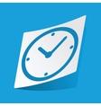 Clock sticker vector image vector image