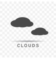 clouds icon trendy flat style vector image