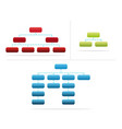 company structure vector image vector image