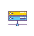 database technology system information service vector image
