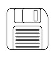 diskette icon image vector image