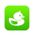 duck icon digital green vector image vector image