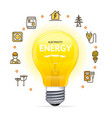 electricity concept with realistic detailed 3d vector image vector image