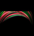 fluid color waves with light effects vector image vector image