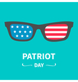 glasses patriot day Flat vector image