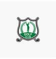 golf club badge logo-2 vector image