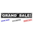 grunge grand sale exclamation textured rectangle vector image vector image