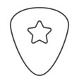 guitar pick thin line icon musical and plectrum vector image vector image