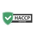 haccp certificate plate - website emblem of haccp vector image vector image