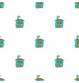 hand drawn houses in doodle styleseamless pattern vector image